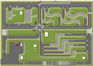 Mô hình thi bằng lái xe B2