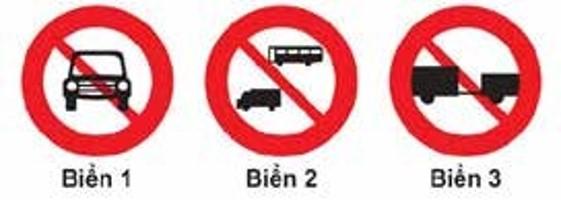 Câu 305 Biển nào cấm các loại xe cơ giới đi vào, trừ xe gắn máy, mô tô hai bánh và các loại xe ưu tiên theo luật định?