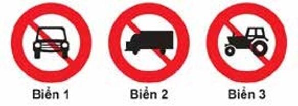 Câu 306: Biển nào cấm ô tô tải?