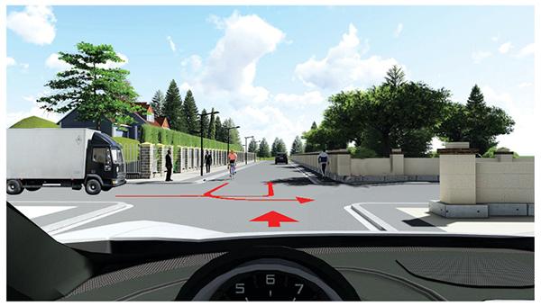 Câu 593: Các xe đi theo thứ tự nào là đúng quy tắc giao thông đường bộ?