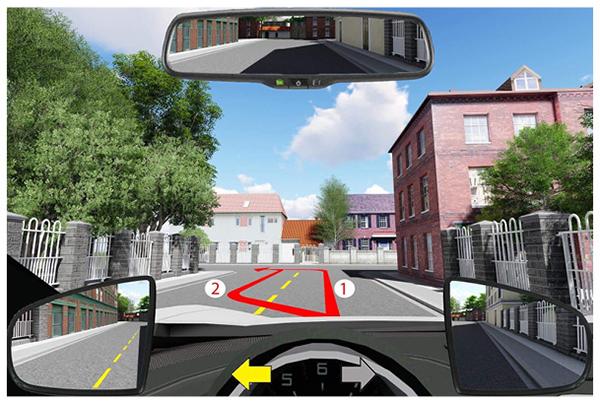 Câu 594: Để điều khiển xe rẽ trái, bạn chọn hướng đi nào dưới đây?